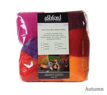 Load image into Gallery viewer, Ashford Corriedale 7 Colour Fibre Pack 100g in Autumn
