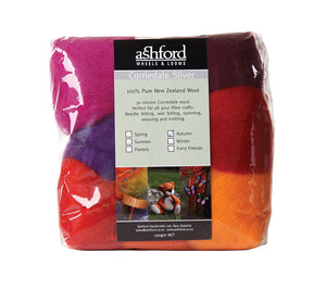 A package of Ashford Corriedale 7 Colour Fibre Pack 100g