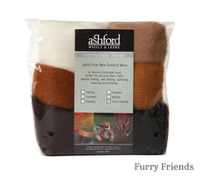 Load image into Gallery viewer, Ashford Corriedale 7 Colour Fibre Pack 100g in Furry Friends