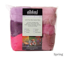 Load image into Gallery viewer, Ashford Corriedale 7 Colour Fibre Pack 100g in Spring