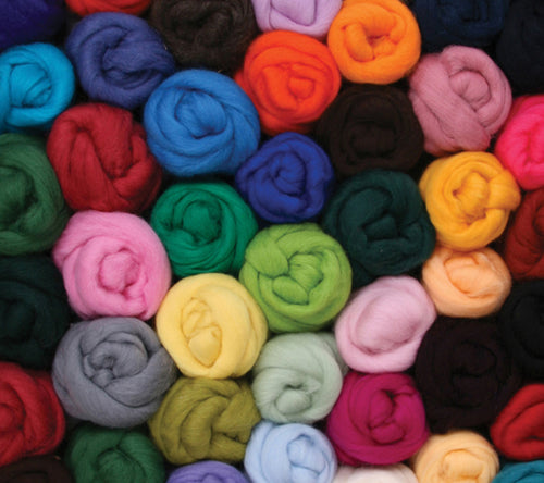 Ashford Corriedale 100g Solid Colour Fibre Pack