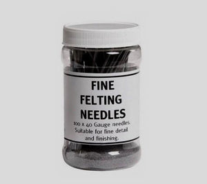 A container of Ashford Fine Felting Needles