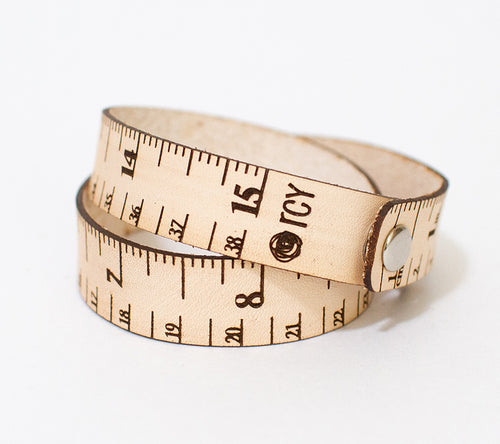Brickbubble RCY Double Wrap Tape Measure Bracelet