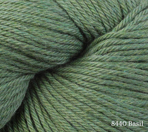 A close up of Berroco Pima 100 in 8440 Basil