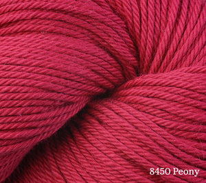 A close up of Berroco Pima 100 in 8450 Peony