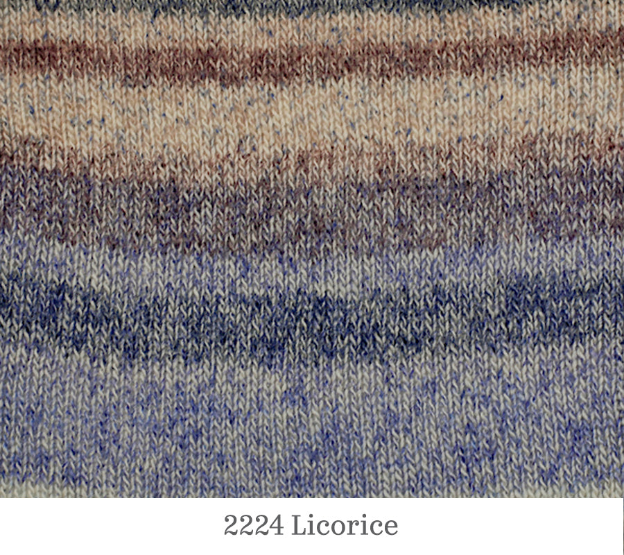 A close up of Berroco Pixel in 2224 Licorice