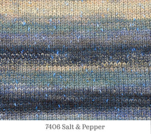 Load image into Gallery viewer, A close up of Berroco Sesame in 7406 Salt & Pepper