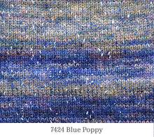 Load image into Gallery viewer, A close up of Berroco Sesame in 7424 Blue Poppy
