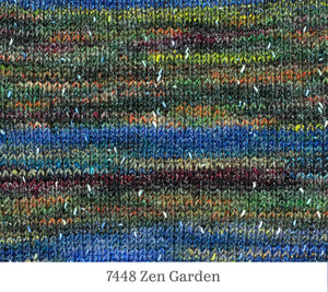 A close up of Berroco Sesame in 7448 Zen Garden