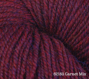 A close up of Berroco Ultra Alpaca in 62183 Garnet Mix
