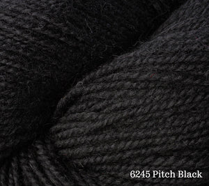 A close up of Berroco Ultra Alpaca in 6245 Pitch Black