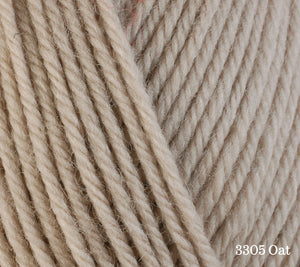 A close up of Berroco Ultra Wool in 3305 Oat