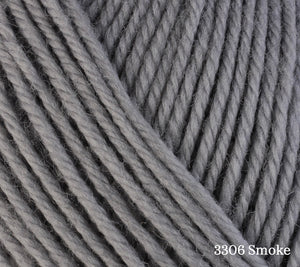 A close up of Berroco Ultra Wool in 3306 Smoke
