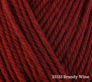 A close up of Berroco Ultra Wool in 33133 brandy Wine