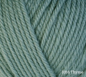 A close up of Berroco Ultra Wool in 3316 Thyme