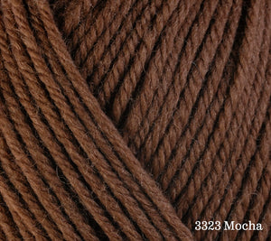 A close up of Berroco Ultra Wool in 3323 Mocha