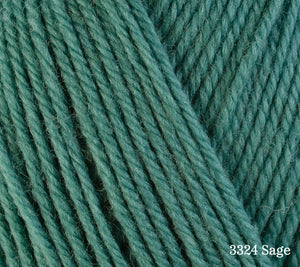 A close up of Berroco Ultra Wool in 3324 Sage