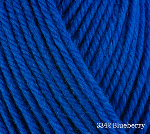 A close up of Berroco Ultra Wool in 3342 Blueberry
