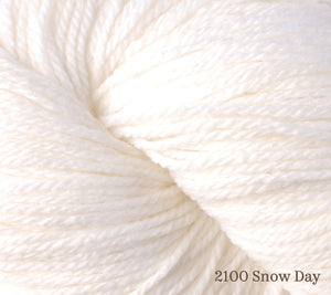 A close up of Berroco Vintage DK in 2100 Snow Day