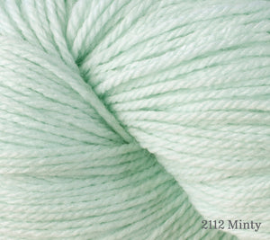 A close up of Berroco Vintage DK in 2112 Minty