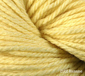 A close up of Berroco Vintage DK in 2122 Banane