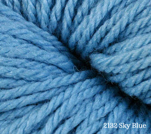 A close up of Berroco Vintage DK in 2132 Sky Blue