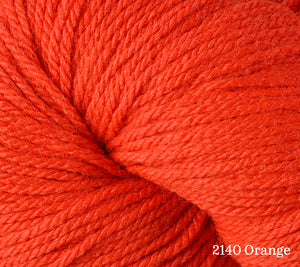 A close up of Berroco Vintage DK in 2140 Orange