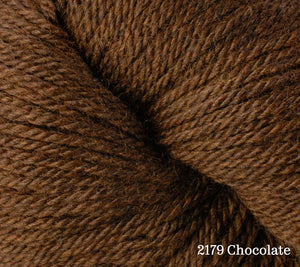 A close up of Berroco Vintage DK in 2179 Chocolate
