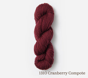 A skein of Blue Sky Fibers Woolstok (50g) in 1310 Cranberry Compote