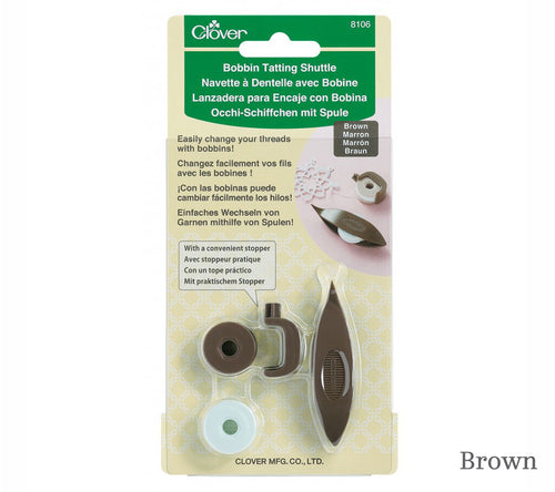 Bobbin Tatting Shuttle in Brown