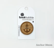 Load image into Gallery viewer, One brickbubble Wooden Button Anchor 38mm