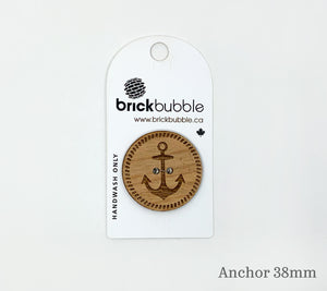 One brickbubble Wooden Button Anchor 38mm