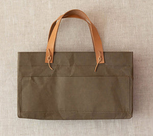Cocoknits Kraft Caddy in Olive with handles