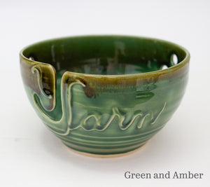 Yarn bowl in Green and Amber