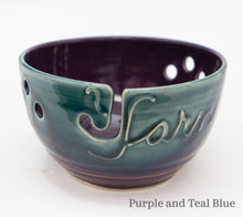 Load image into Gallery viewer, Yarn bowl in Purple and Teal Blue