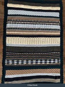 A crocheted blanket