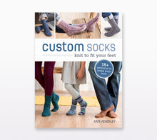 Load image into Gallery viewer, A book cover of Custom Socks by Kate Atherley