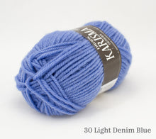 Load image into Gallery viewer, A ball of Drops Karisma in 30 Light Denim Blue