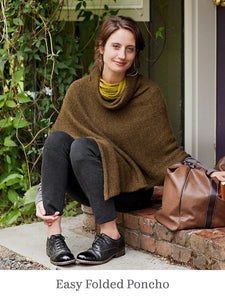 A model wearing Easy Folded Poncho
