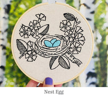 Load image into Gallery viewer, Hook Line & Tinker embroidery kits: Nest Egg