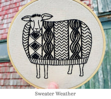 Load image into Gallery viewer, Hook Line & Tinker embroidery kits: Sweater Weather