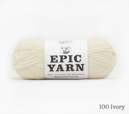 A ball of Epic Yarn in 100 Ivory