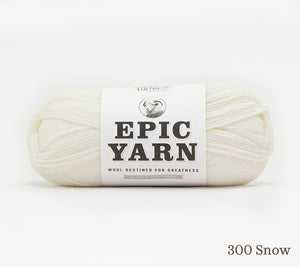 A ball of Epic Yarn in 300 Snow