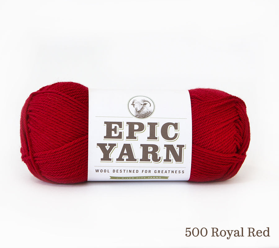 A ball of Epic Yarn in 500 Royal Red