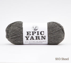 A ball of Epic Yarn in 910 Steel