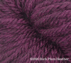 A close up of Estelle Chunky in 63390 Rich Plum Heather