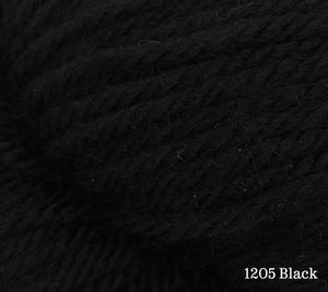 A close up of Estelle Worsted in 1205 Black