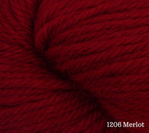A close up of Estelle Worsted in 1205 Merlot