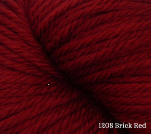 A close up of Estelle Worsted in 1208 Brick Red