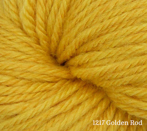 A close up of Estelle Worsted in 1217 Golden Rod